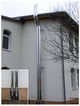 Abgasleitung parallel verlegt - Münsingen